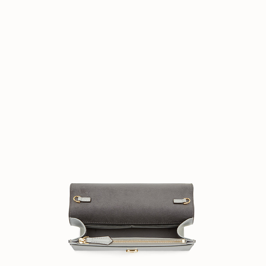 FENDI WALLET ON CHAIN - Grey leather mini-bag - view 4 detail