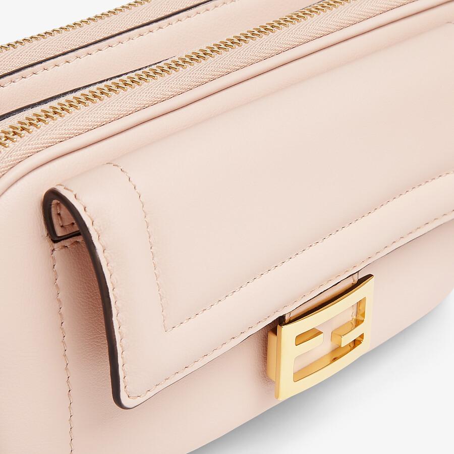 FENDI EASY 2 BAGUETTE - Pink leather mini bag - view 5 detail