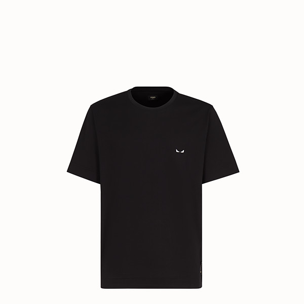 FENDI T-SHIRT - Black fabric T-shirt - view 1 small thumbnail