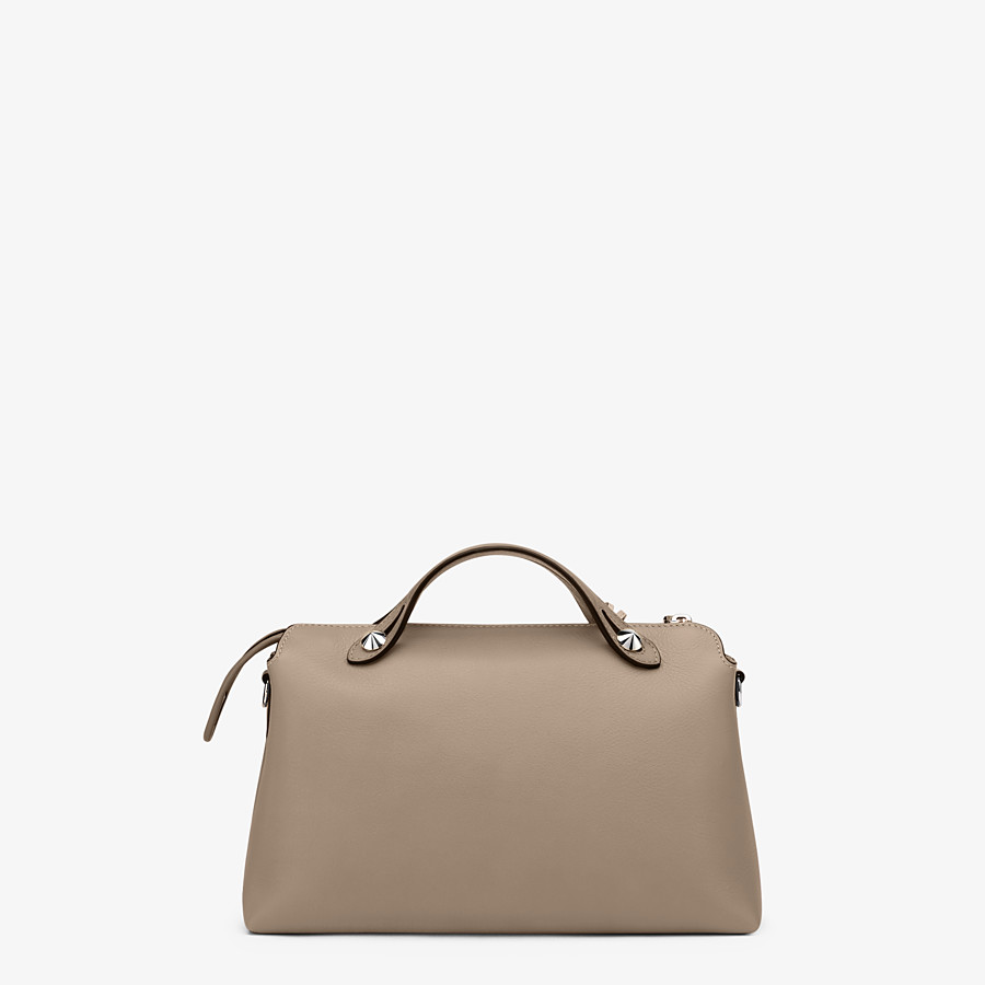 FENDI BY THE WAY MEDIUM - Small Boston bag in beige leather - view 4 detail