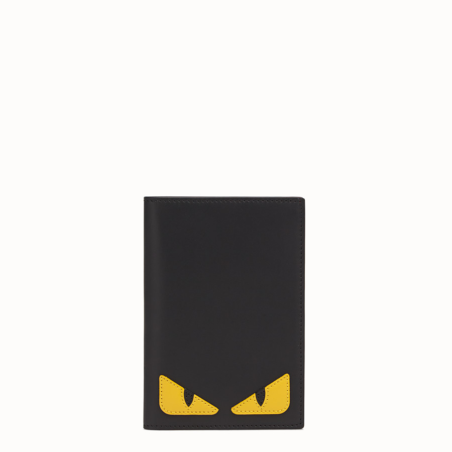 FENDI PASSPORT COVER - Black leather passport cover - view 1 detail