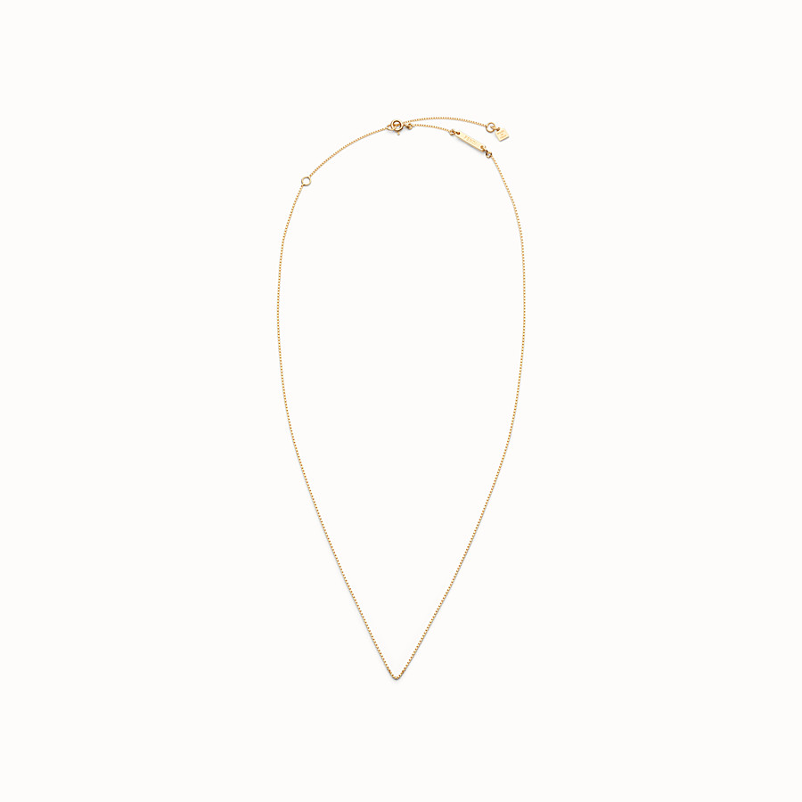 FENDI ABCLICK NECKLACE - Gold-finish metal chain necklace - view 1 detail