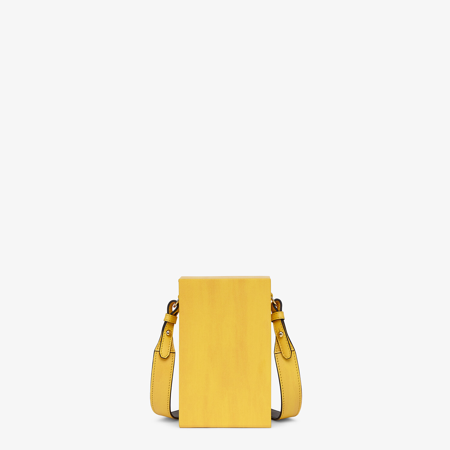 FENDI VERTICAL BOX - Yellow leather bag - view 3 detail
