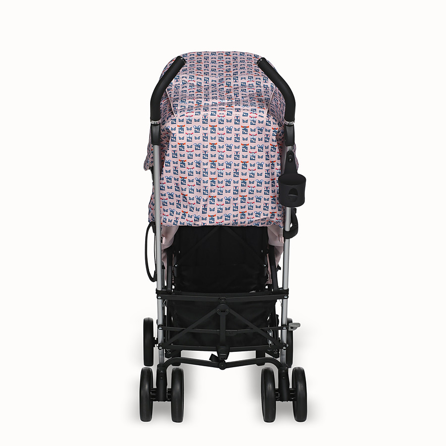 FENDI STROLLER - Pink stroller with monster pattern - view 5 detail