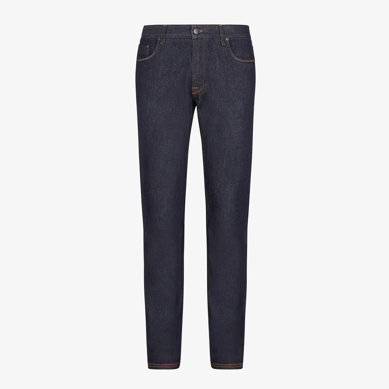 FENDI DENIM - Blue denim jeans - view 1 detail