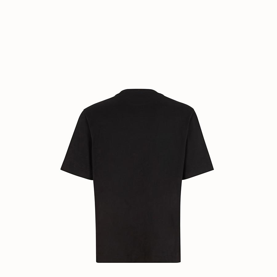 FENDI T-SHIRT - T-shirt in cotone nero - vista 2 dettaglio