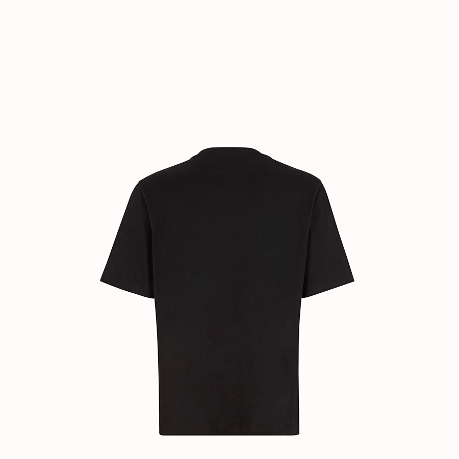 FENDI T-SHIRT - T-shirt en coton noir - view 2 detail