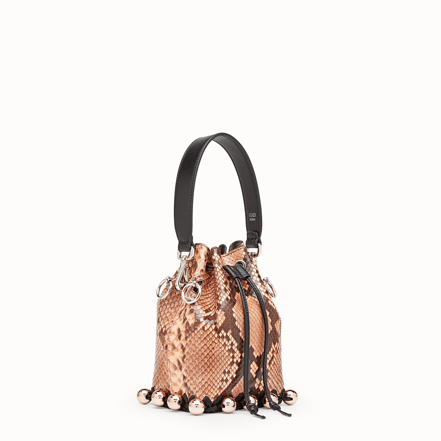FENDI MON TRESOR - Pink python mini-bag - view 2 detail