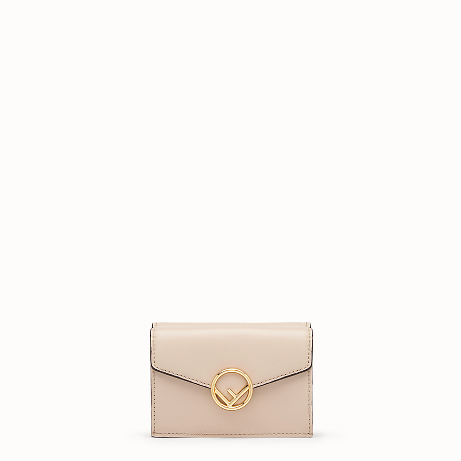 FENDI MICRO TRIFOLD - Pink leather wallet - view 1 detail