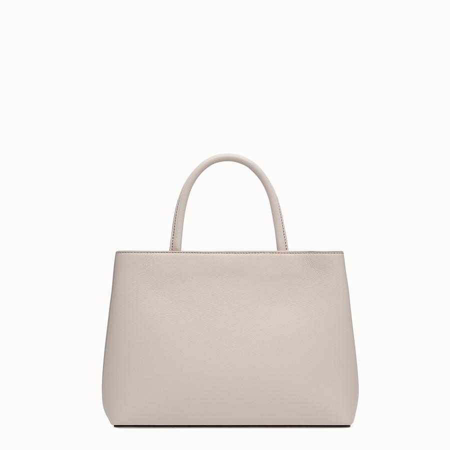 FENDI PETITE 2JOURS - 粉末灰色皮革購物袋 - view 3 detail