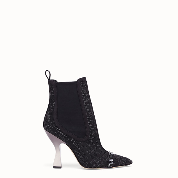 FENDI ANKLE BOOTS - Colibrì in black mesh - view 1 small thumbnail