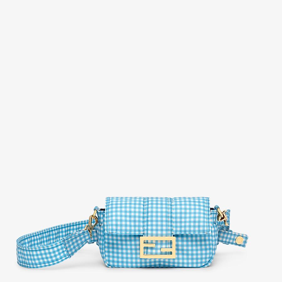 FENDI BELT BAGUETTE SMALL - Vichy print nylon bag - view 1 detail
