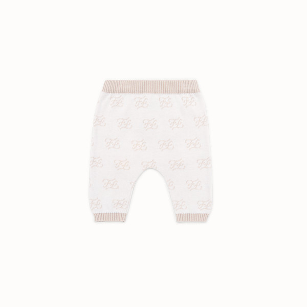 FENDI KNITTED BABY TROUSERS - Knitted baby trousers - view 1 small thumbnail
