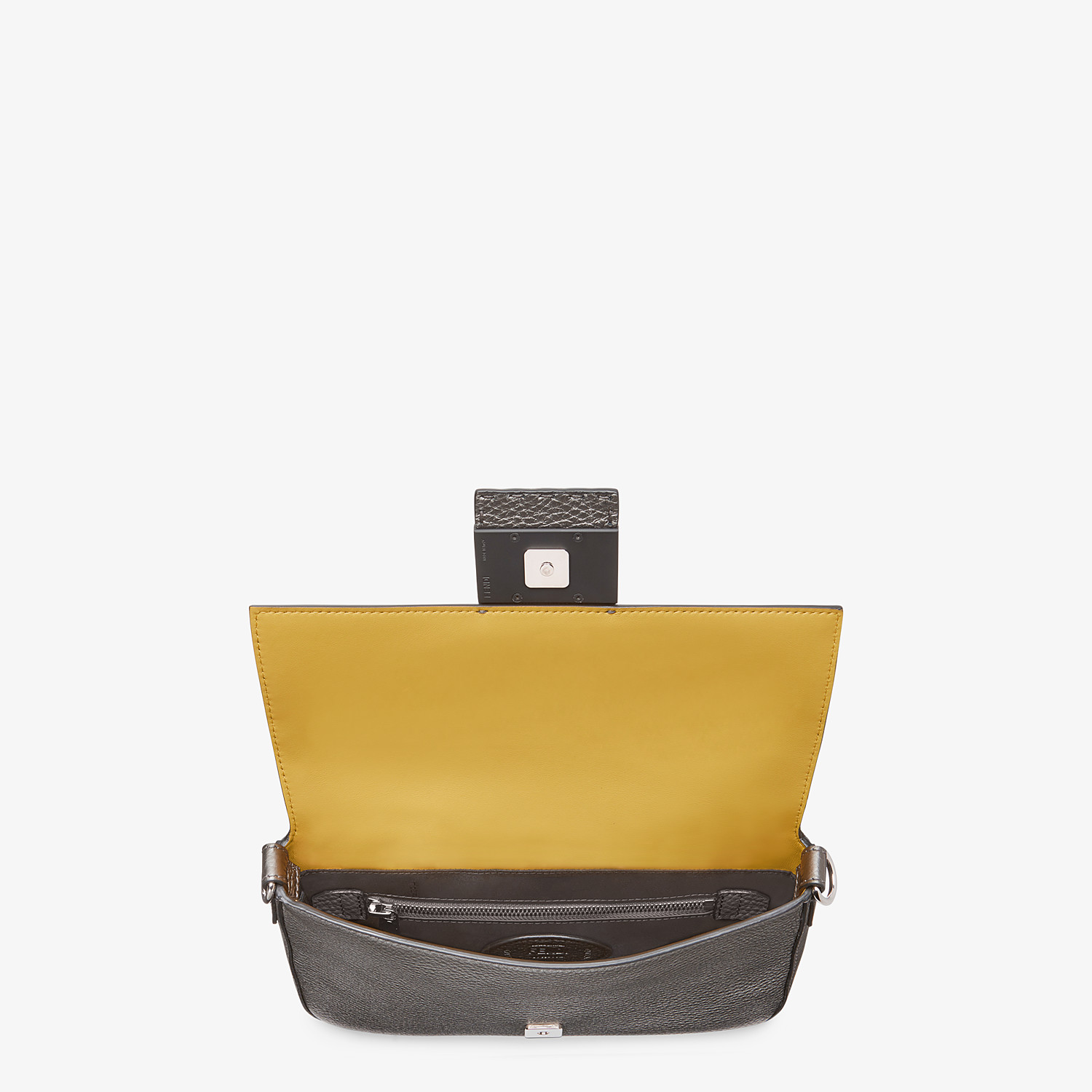 FENDI BAGUETTE - Grey leather bag - view 5 detail