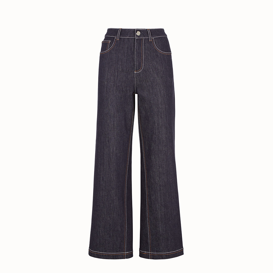 FENDI PANTS - Blue denim pants - view 1 detail