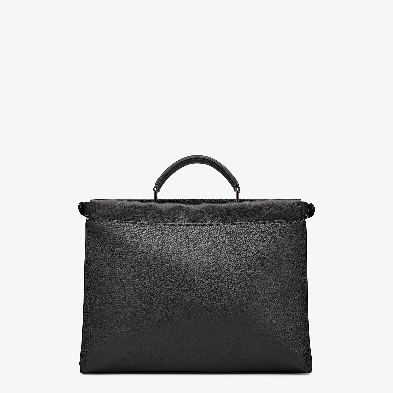 FENDI PEEKABOO ICONIC FIT - Black leather bag - view 3 detail