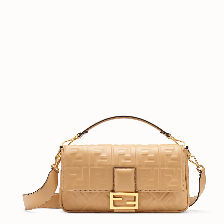 FENDI BAGUETTE LARGE - Tasche aus Leder in Beige - view 1 detail