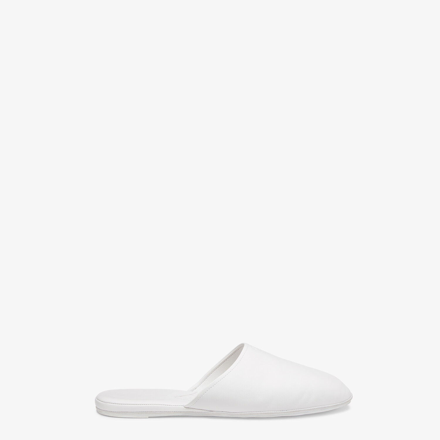 FENDI SLIPPERS - White nappa leather mules - view 1 detail