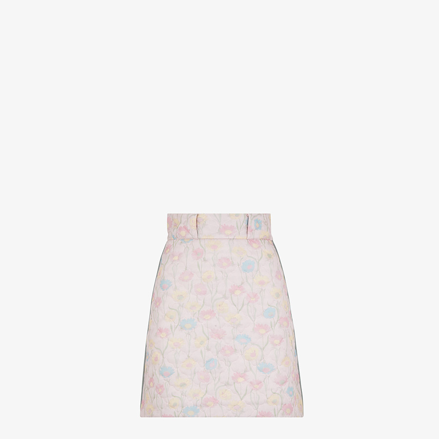 FENDI SKIRT - Pink quilted fabric skirt - view 1 detail