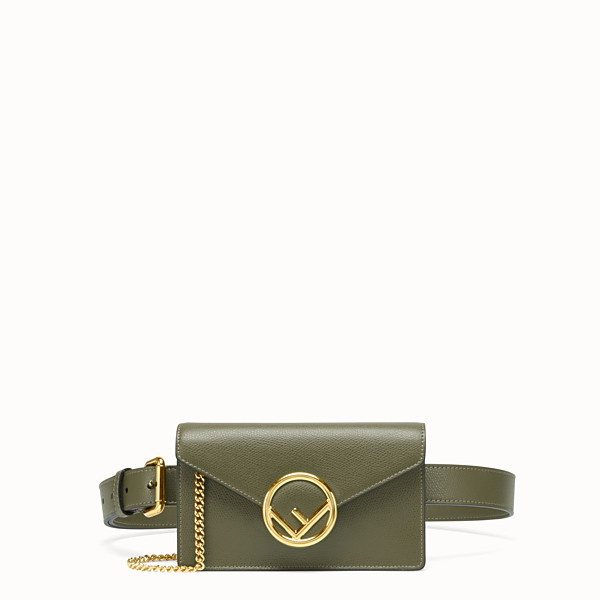 FENDI BELT BAG - Green leather belt bag - view 1 small thumbnail
