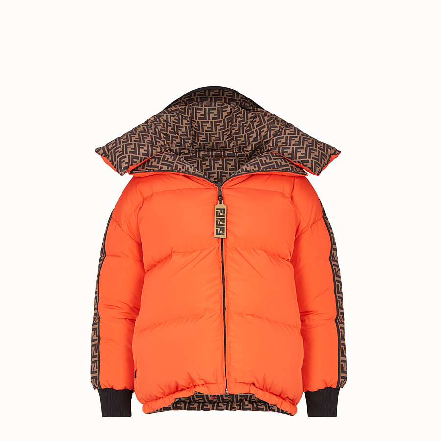 FENDI DOWN JACKET - Multicolour padded down jacket - view 4 detail