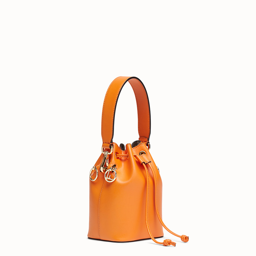 FENDI MON TRESOR - Orange leather mini-bag - view 2 detail