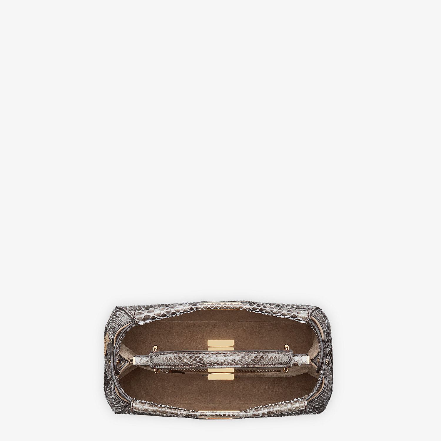 FENDI PEEKABOO ICONIC MINI - Gray python bag - view 4 detail