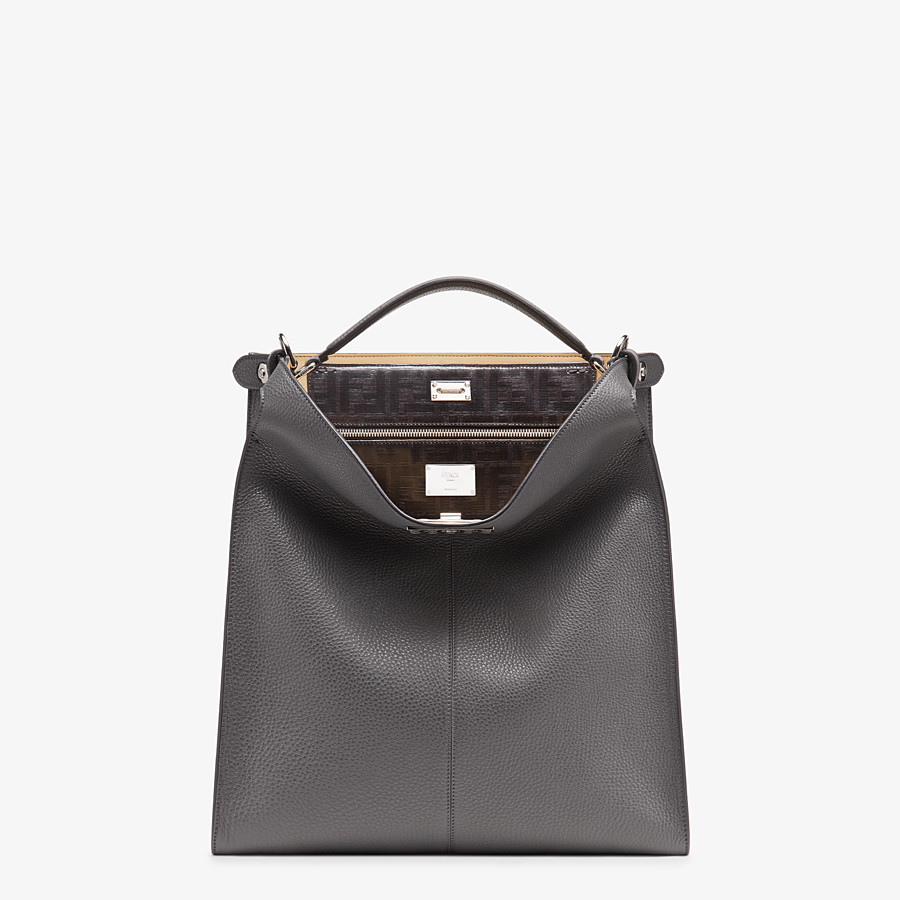 FENDI PEEKABOO X-LITE FIT - Gray leather bag - view 2 detail