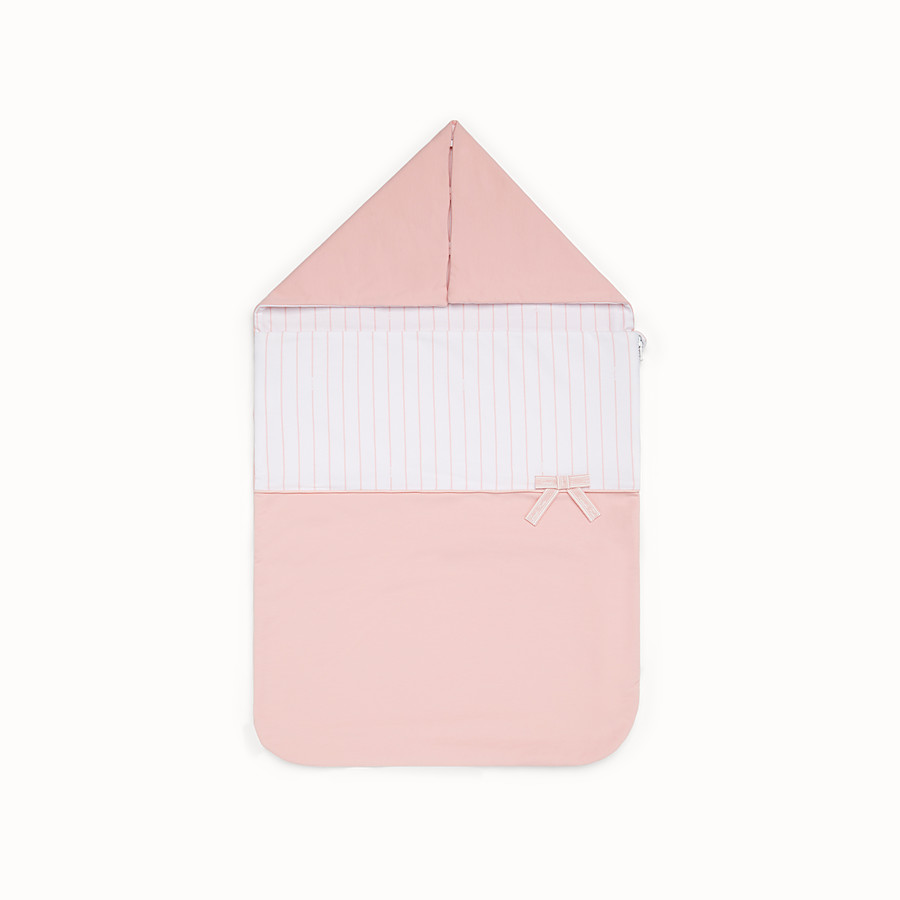 FENDI BABY GIRL'S SLEEPING BAG - Pink and white sleeping bag - view 1 detail