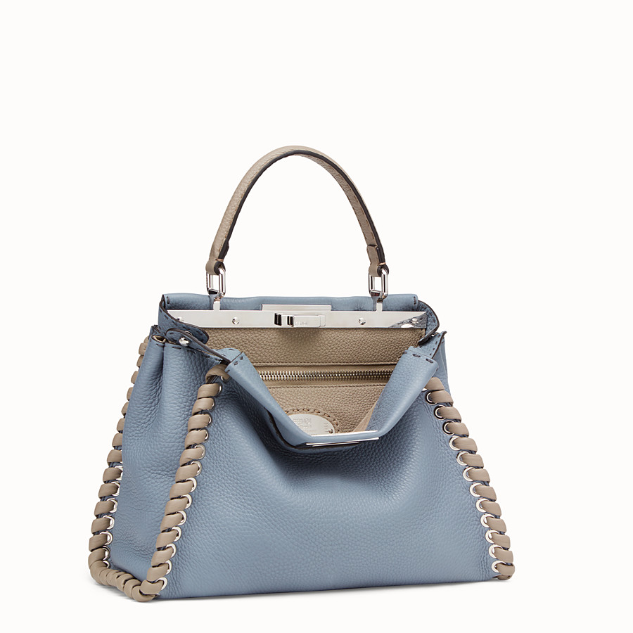 FENDI PEEKABOO ICONIC MEDIUM - Pale blue leather bag - view 3 detail