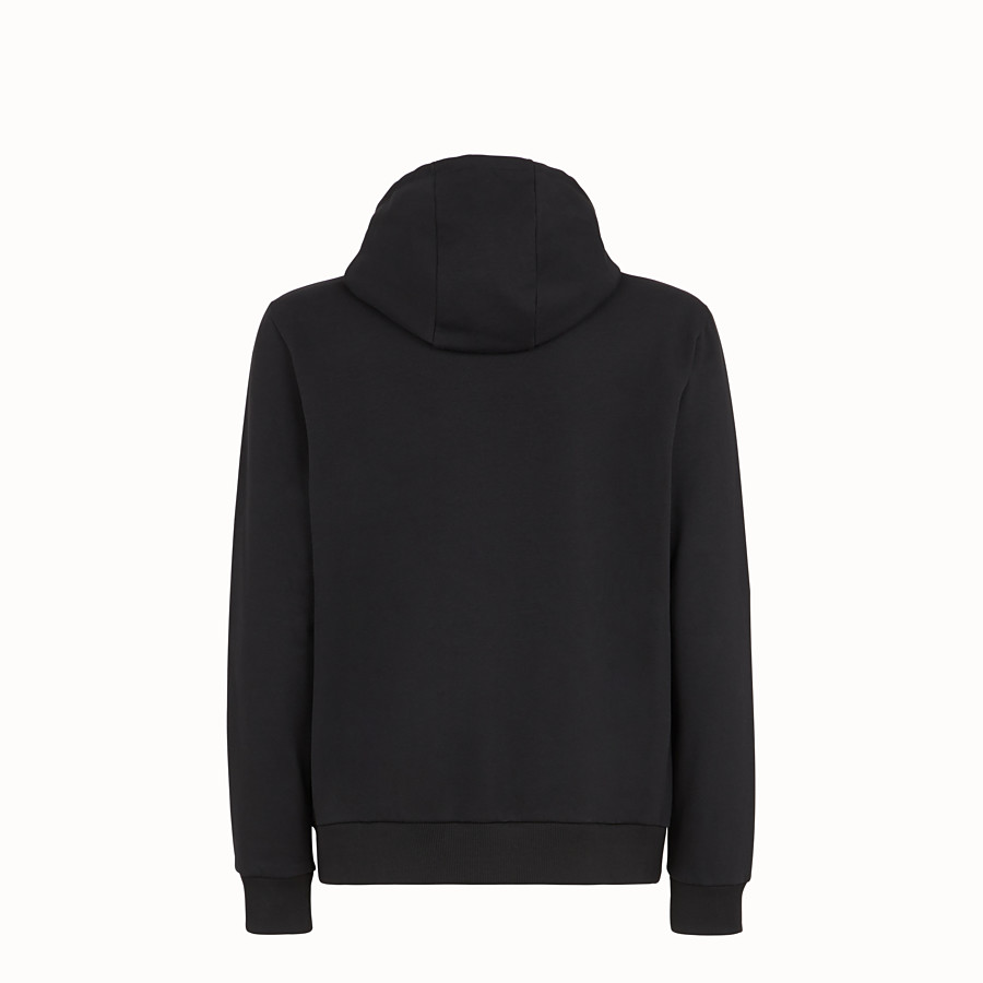 FENDI SWEATSHIRT - Black cotton jersey sweater - view 2 detail
