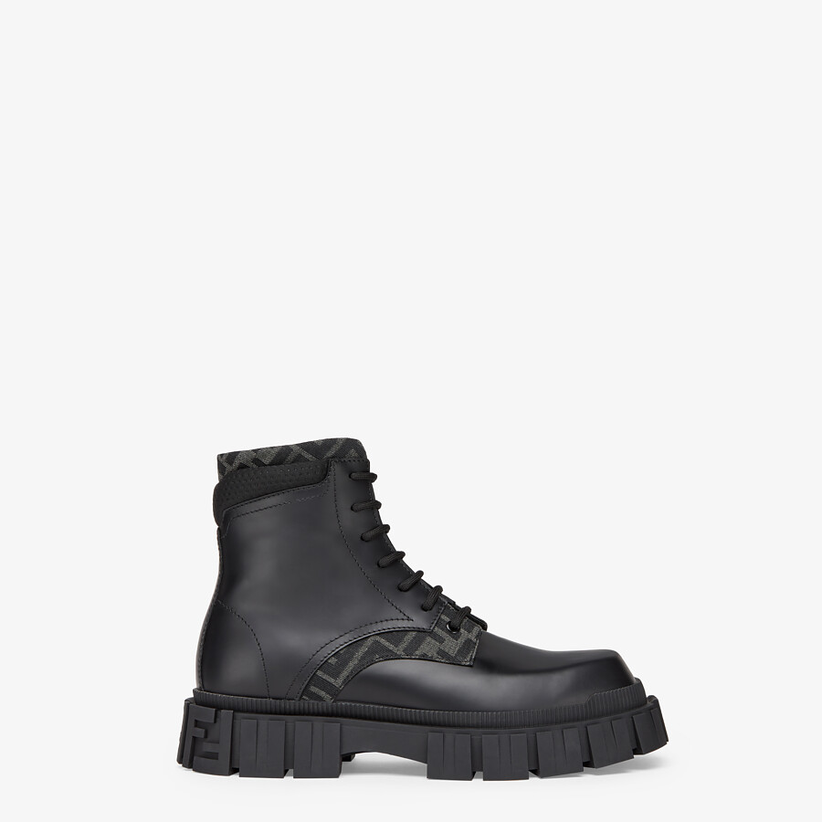 FENDI ANKLE BOOTS - Black leather ankle boots - view 1 detail
