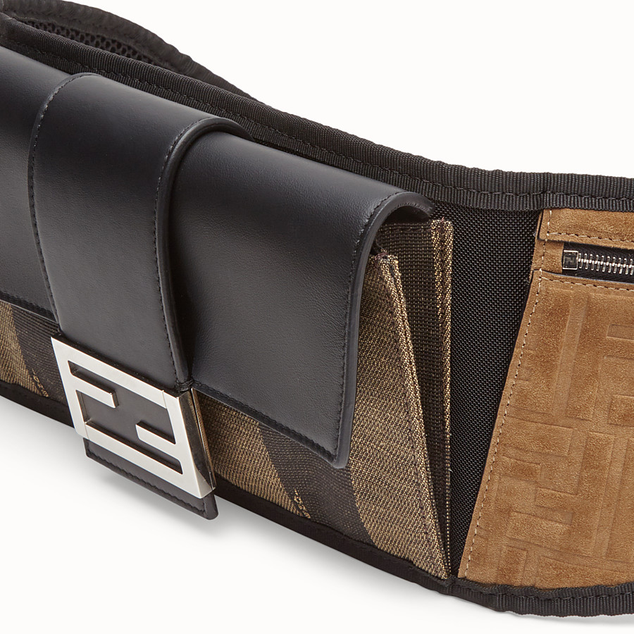 FENDI BAGUETTE BELT - Marsupio in canvas marrone - vista 4 dettaglio