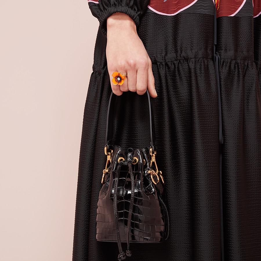 FENDI MON TRESOR - Mini-bag in black crocodile - view 2 detail