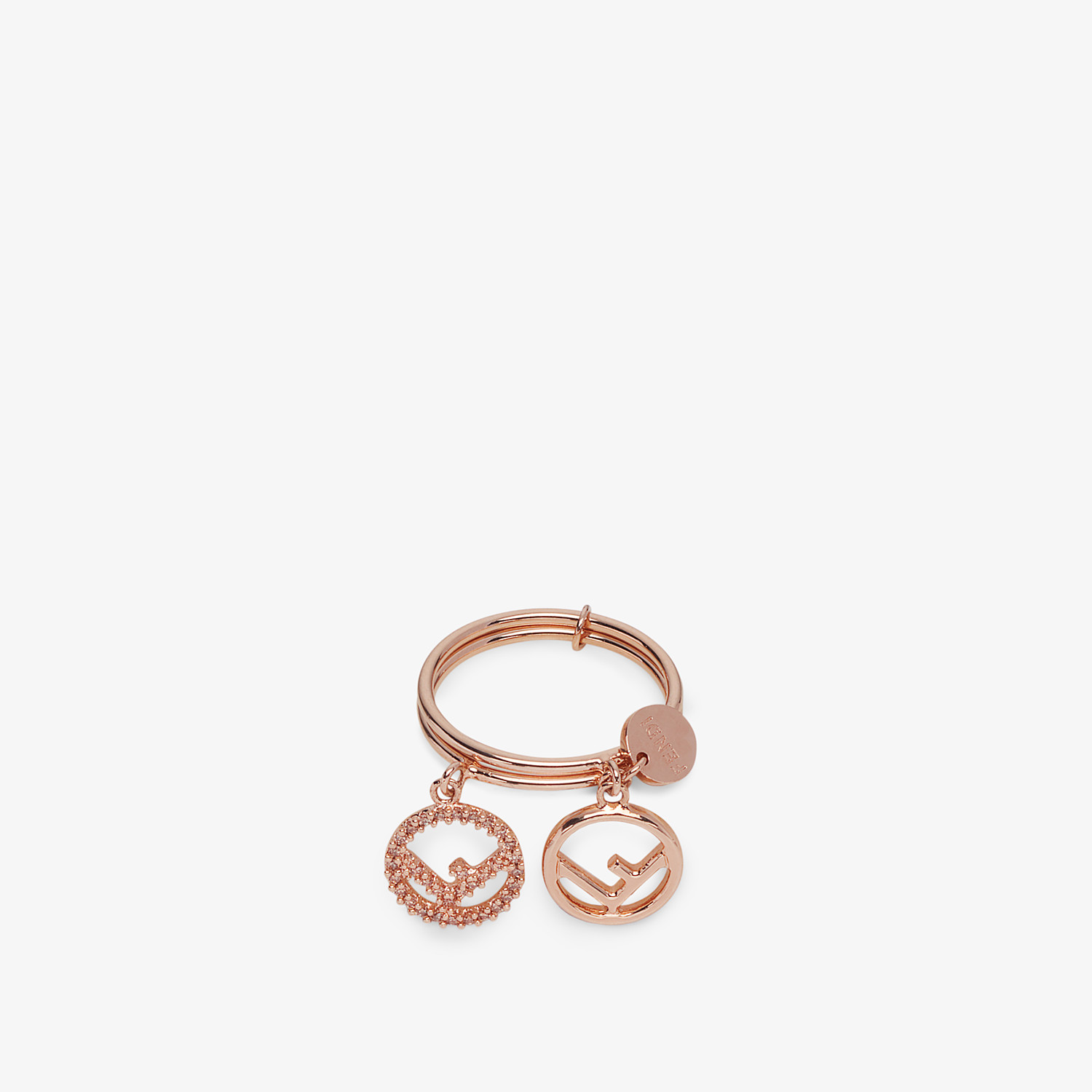 FENDI F IS FENDI RING - Rose gold-colour ring - view 2 detail