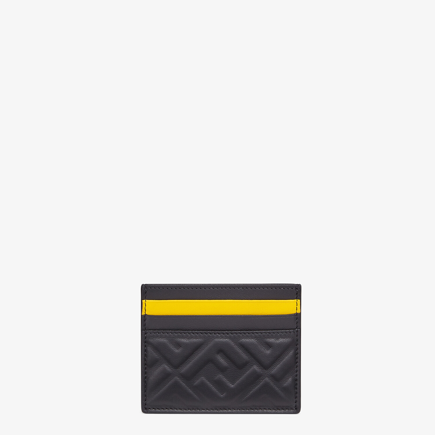 FENDI CARD HOLDER - Black nappa leather card holder - view 1 detail