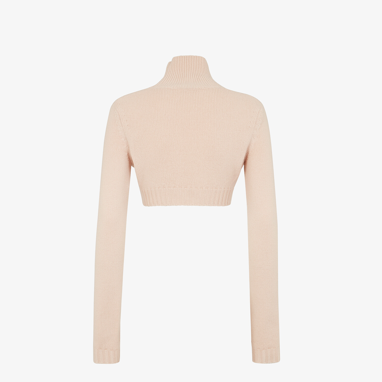 FENDI SWEATER - Pink cashmere sweater - view 2 detail