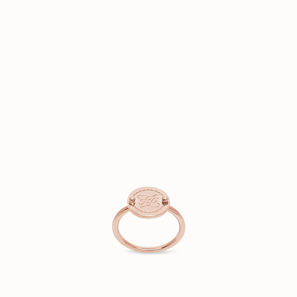 FENDI KARLIGRAPHY RING - Rose gold-colour ring - view 1 small thumbnail