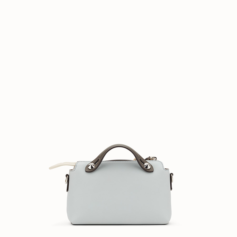 FENDI BY THE WAY MINI - Small grey leather Boston bag - view 3 detail