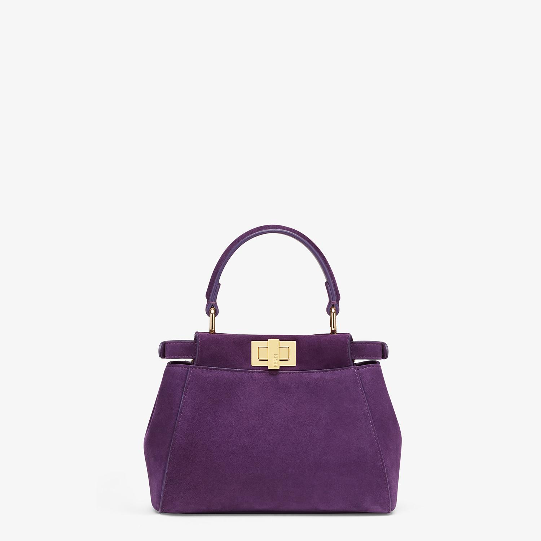 FENDI PEEKABOO ICONIC XS - Minibag in suede viola - vista 3 dettaglio