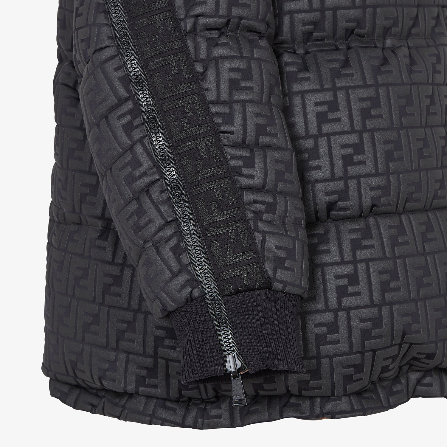 FENDI SKI JACKET - Ski jacket in black nylon - view 3 detail
