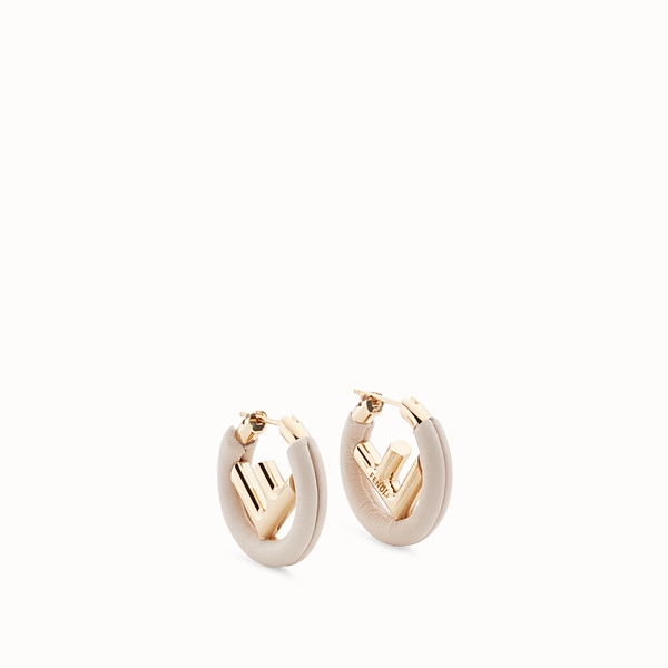 FENDI F IS FENDI EARRINGS - White leather earrings - view 1 small thumbnail