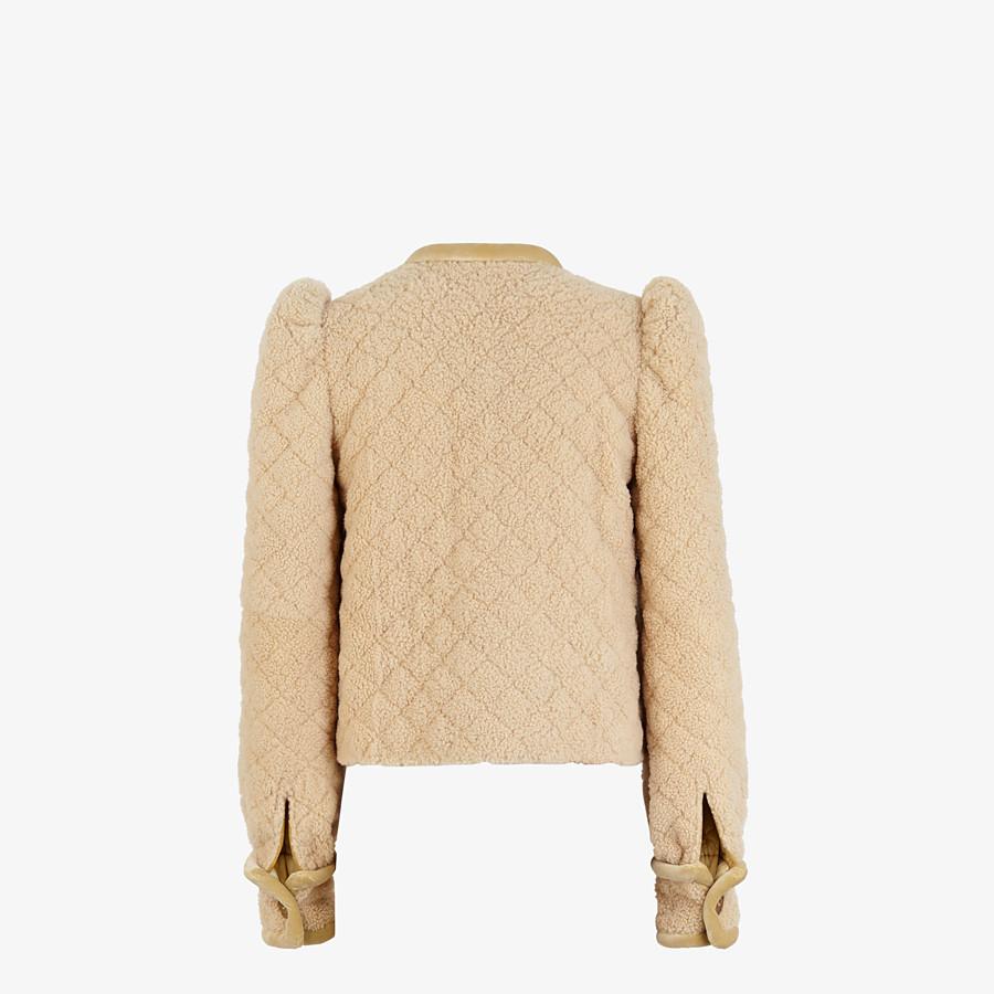 FENDI JACKET - Beige shearling jacket - view 2 detail