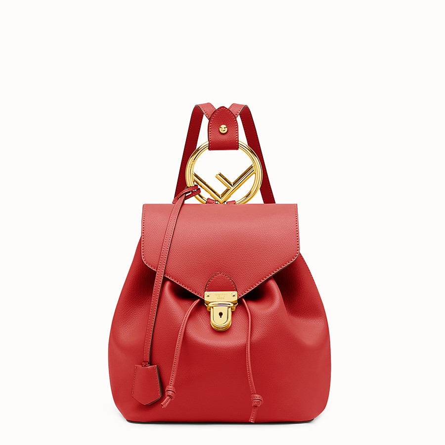 2daf7583dfd Red leather backpack - BACKPACK | Fendi