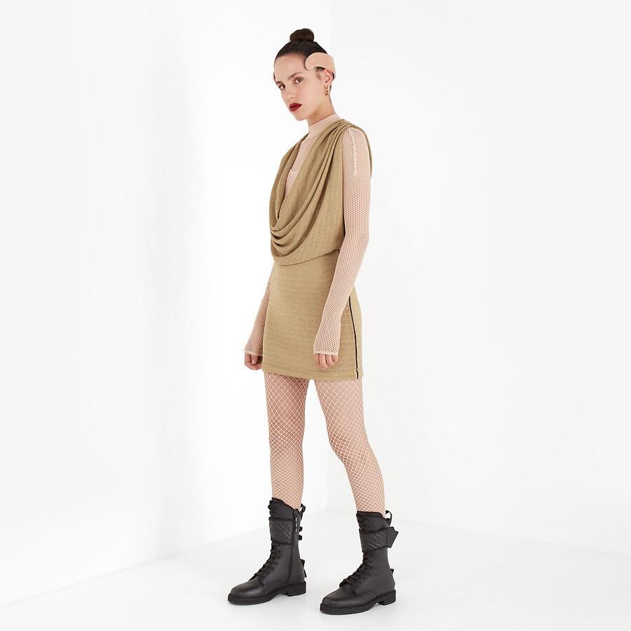 FENDI DRESS - Gold Lurex dress - view 4 detail