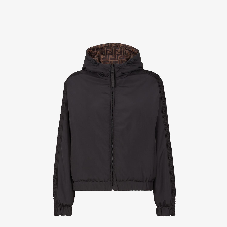 FENDI WINDBREAKER - Black nylon jacket - view 1 detail
