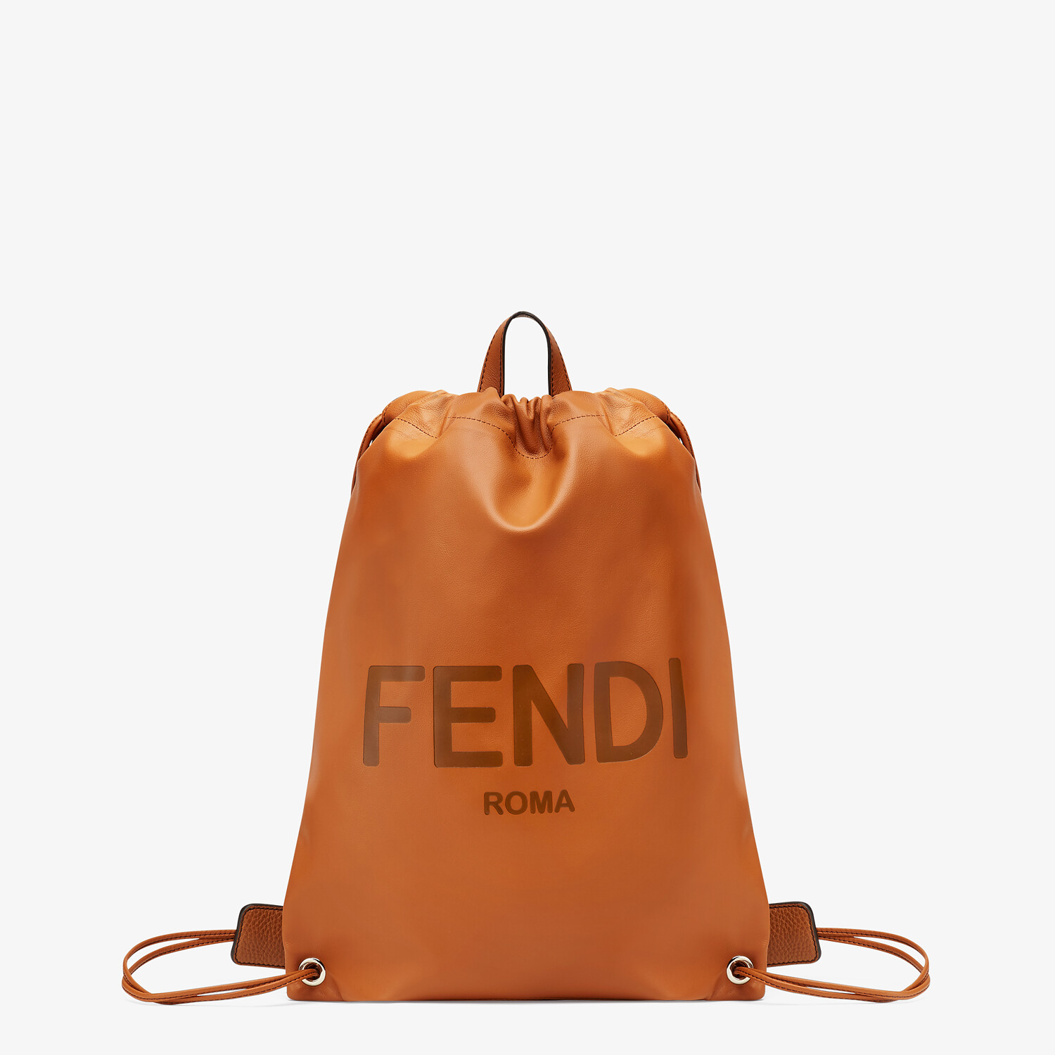 FENDI BACKPACK - Brown leather backpack - view 1 detail