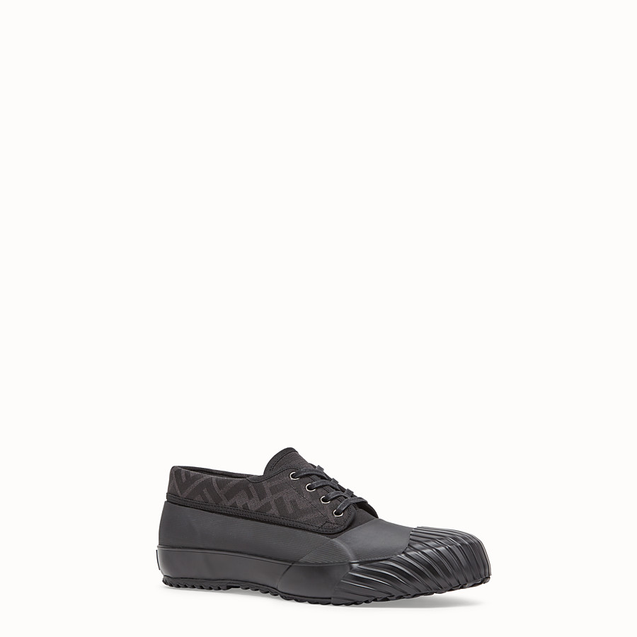 FENDI FENDI AND MOONSTAR SNEAKERS - Low-tops in canvas and black rubber - view 2 detail