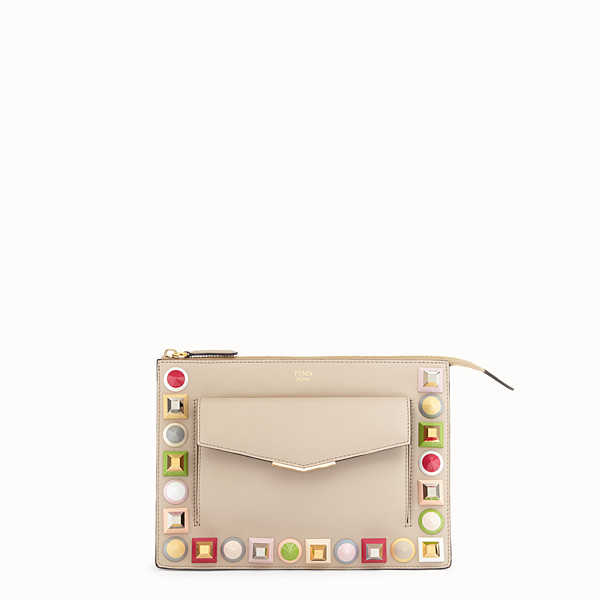 FENDI MINIPOCHETTE - Mini sac en cuir beige - view 1 small thumbnail
