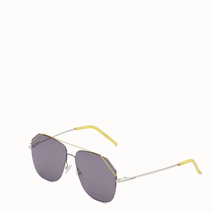 FENDI FENDIFIEND - Gold and yellow sunglasses - view 2 detail